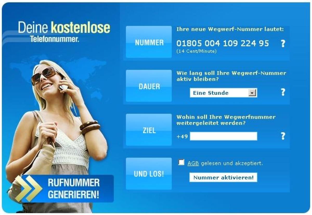 Kostenlos wegwerf deutschland handynummer Die Top