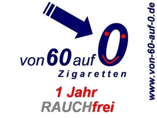 """1 Jahr rauchfrei - Blogger vom WeBlog """"Von 60 auf 0.."""